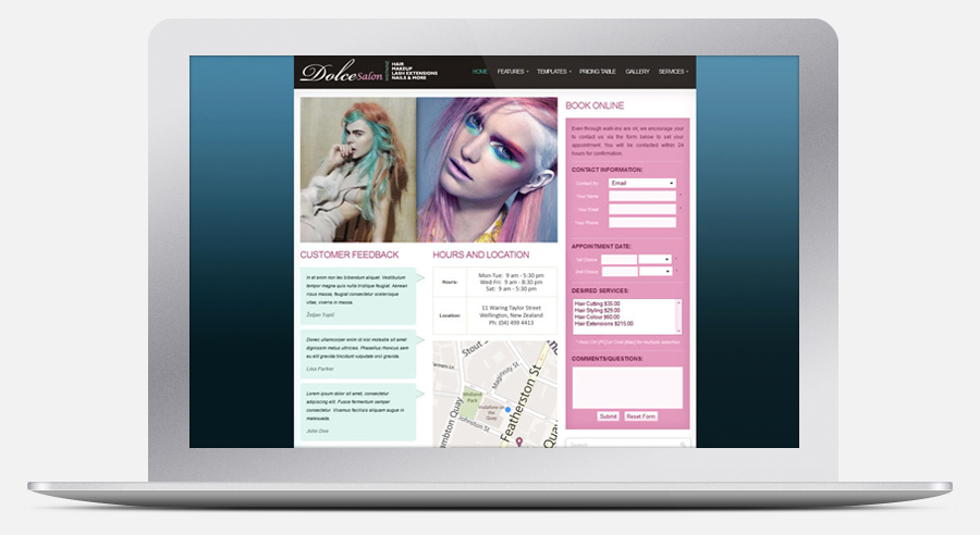Dolce Salon Website